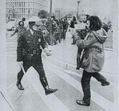 #1 David Cort at May Day protest, Washington DC, 1971. Courtesy of Videofreex